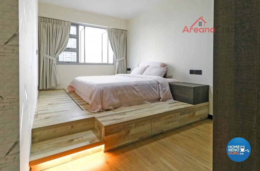 Contemporary, Modern Design - Bedroom - HDB 4 Room - Design by Areana Creation Pte Ltd