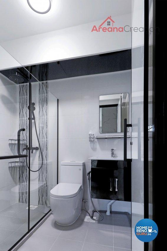 Contemporary, Modern Design - Bathroom - HDB 4 Room - Design by Areana Creation Pte Ltd