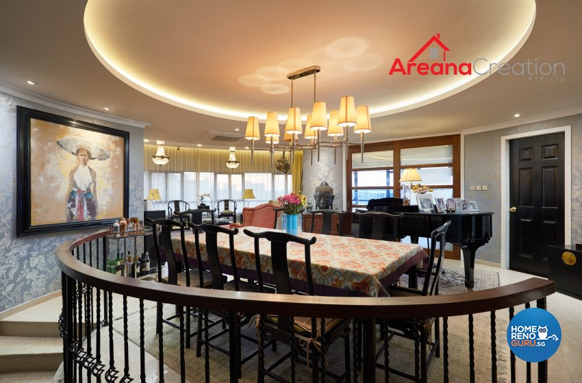 Classical, Modern, Vintage Design - Living Room - Condominium - Design by Areana Creation Pte Ltd