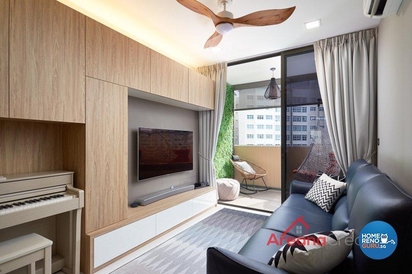 Contemporary Design - Living Room - Condominium - Design by Areana Creation Pte Ltd