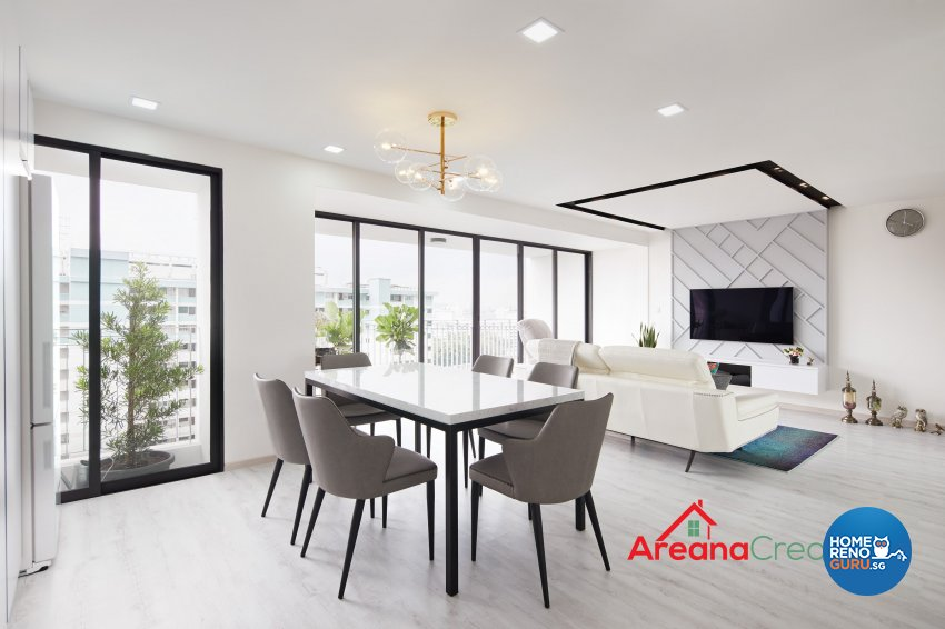 Modern Design - Living Room - HDB 5 Room - Design by Areana Creation Pte Ltd