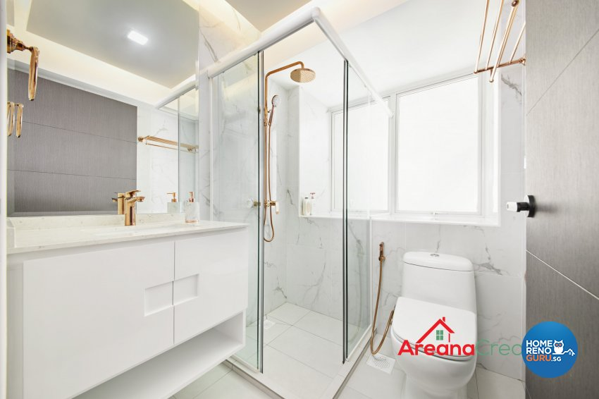 Modern Design - Bathroom - HDB 5 Room - Design by Areana Creation Pte Ltd