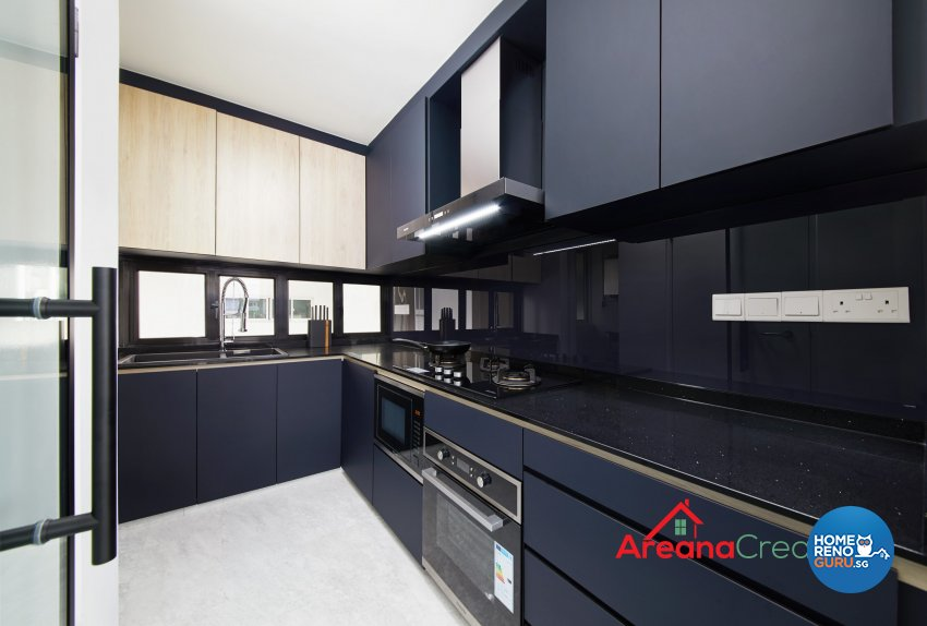 Modern Design - Kitchen - HDB 5 Room - Design by Areana Creation Pte Ltd
