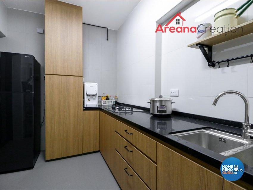 Retro Design - Kitchen - HDB 4 Room - Design by Areana Creation Pte Ltd