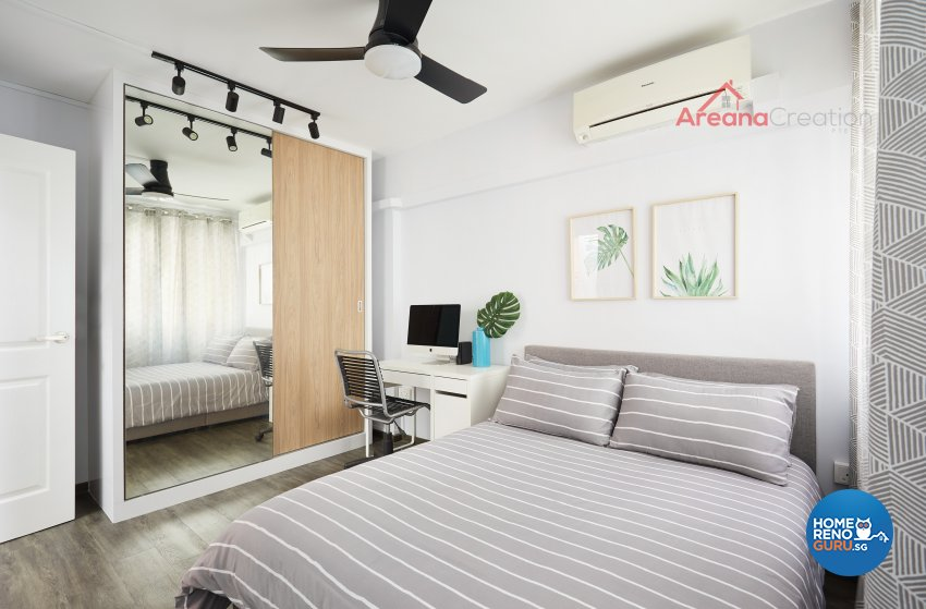 Contemporary Design - Bedroom - HDB 3 Room - Design by Areana Creation Pte Ltd