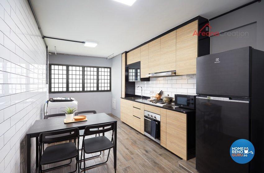 Contemporary Design - Kitchen - HDB 3 Room - Design by Areana Creation Pte Ltd