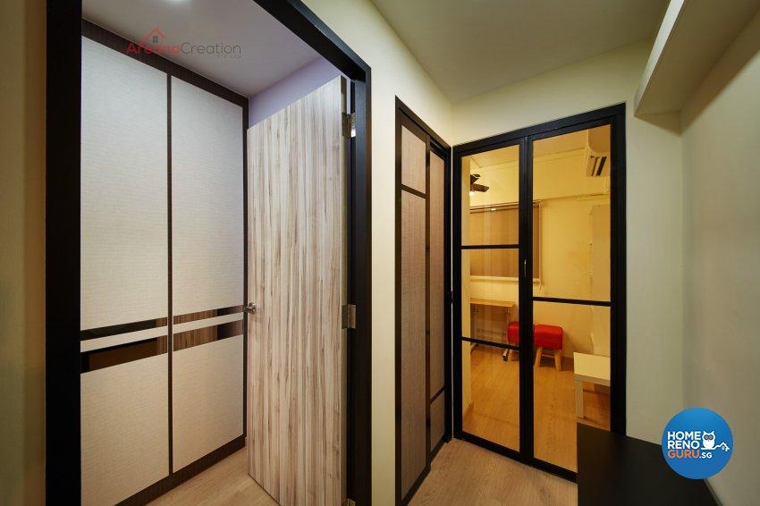 Industrial Design - Bedroom - HDB 3 Room - Design by Areana Creation Pte Ltd
