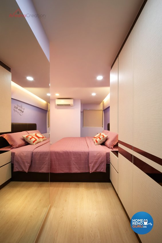 Industrial Design - Bedroom - HDB 3 Room - Design by Areana Creation Pte Ltd