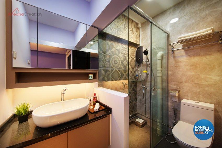 Industrial Design - Bathroom - HDB 3 Room - Design by Areana Creation Pte Ltd