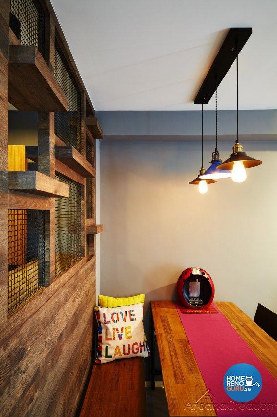 Industrial, Modern, Rustic Design - Dining Room - HDB 3 Room - Design by Areana Creation Pte Ltd