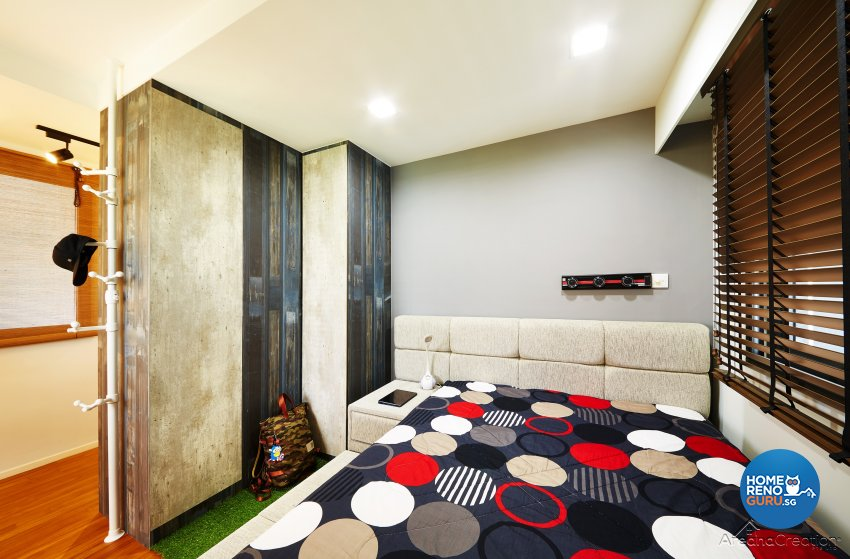 Industrial, Modern, Rustic Design - Bedroom - HDB 3 Room - Design by Areana Creation Pte Ltd