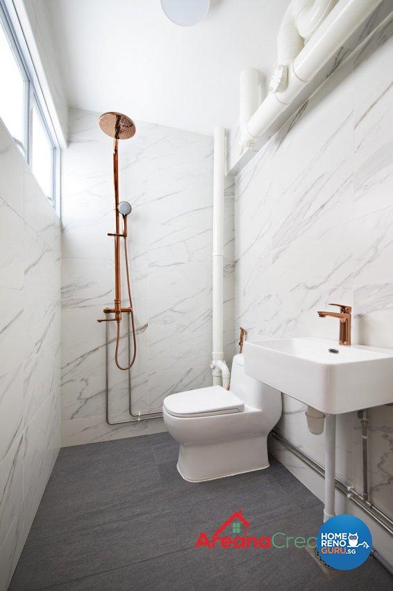 Modern, Scandinavian Design - Bathroom - HDB 4 Room - Design by Areana Creation Pte Ltd