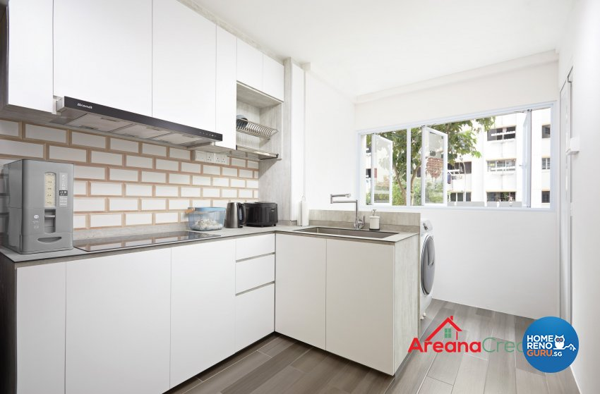 Modern, Scandinavian Design - Kitchen - HDB 4 Room - Design by Areana Creation Pte Ltd