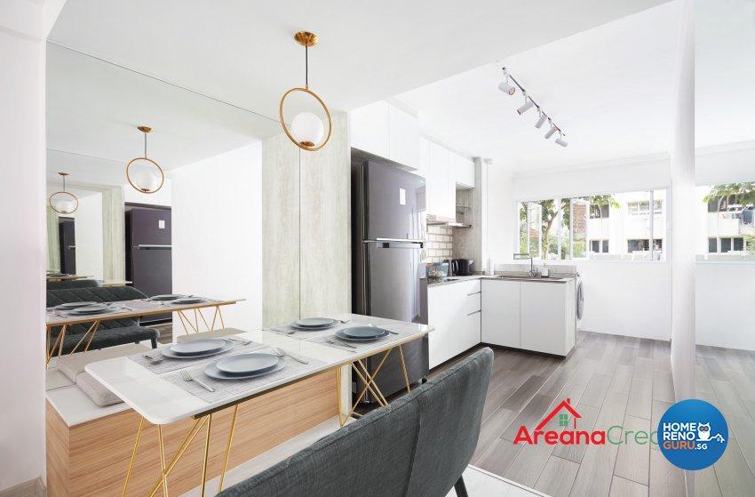 Modern, Scandinavian Design - Dining Room - HDB 4 Room - Design by Areana Creation Pte Ltd