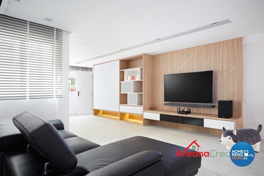 Modern, Scandinavian Design - Living Room - HDB 4 Room - Design by Areana Creation Pte Ltd