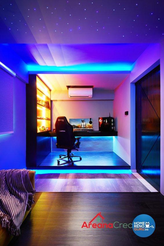 Modern, Scandinavian Design - Entertainment Room - HDB 4 Room - Design by Areana Creation Pte Ltd