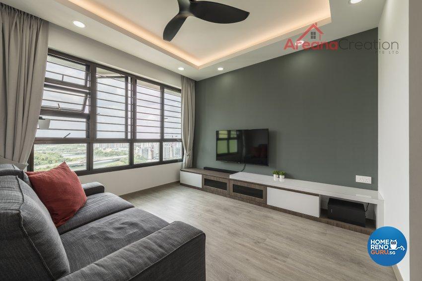 Industrial, Minimalist, Modern Design - Living Room - HDB 4 Room - Design by Areana Creation Pte Ltd