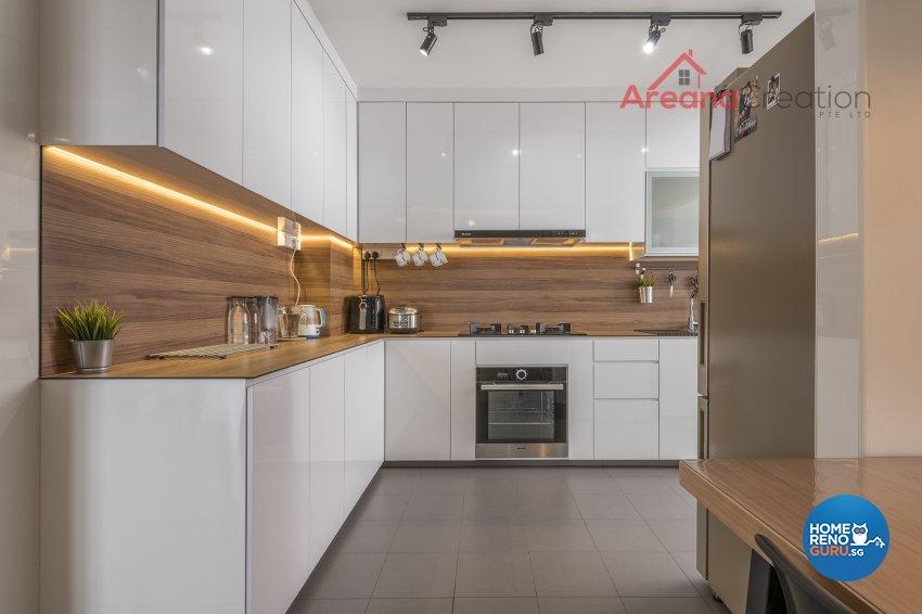 Industrial, Minimalist, Modern Design - Kitchen - HDB 4 Room - Design by Areana Creation Pte Ltd