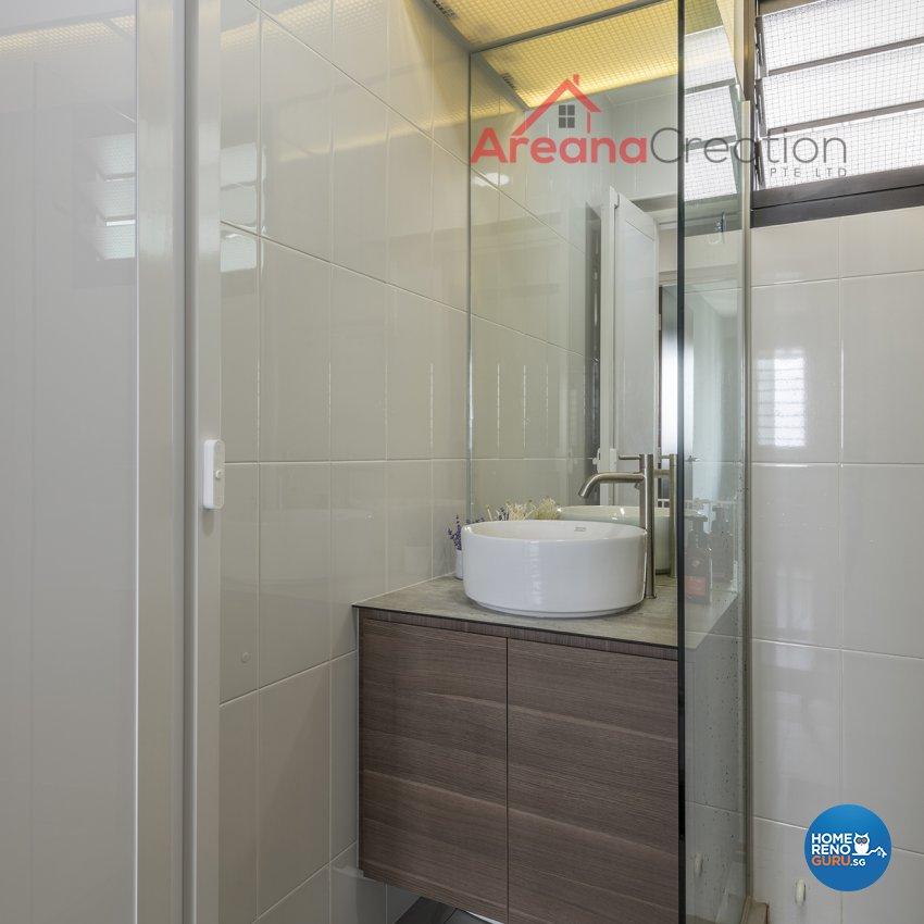 Industrial, Minimalist, Modern Design - Bathroom - HDB 4 Room - Design by Areana Creation Pte Ltd