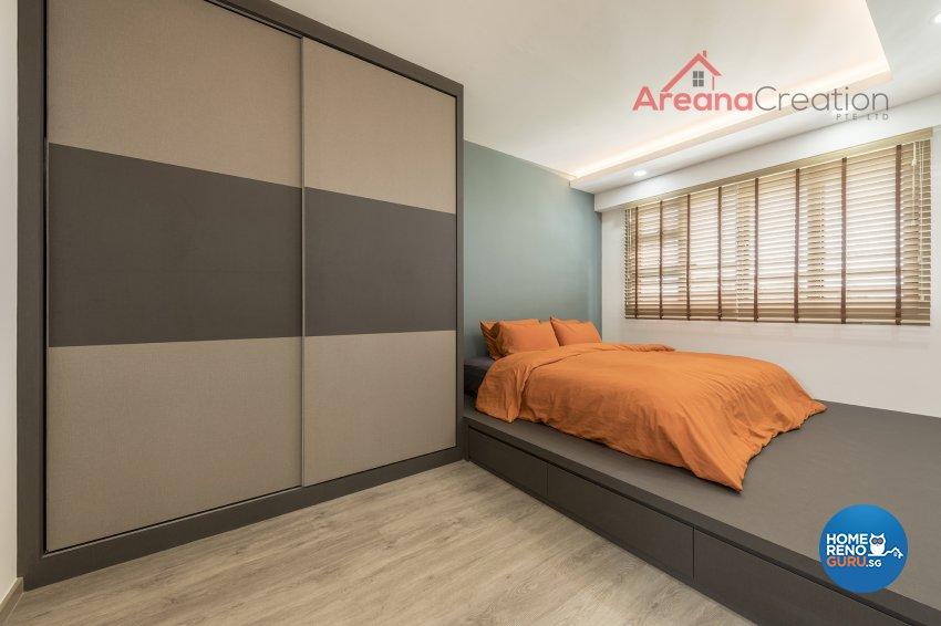 Industrial, Minimalist, Modern Design - Bedroom - HDB 4 Room - Design by Areana Creation Pte Ltd