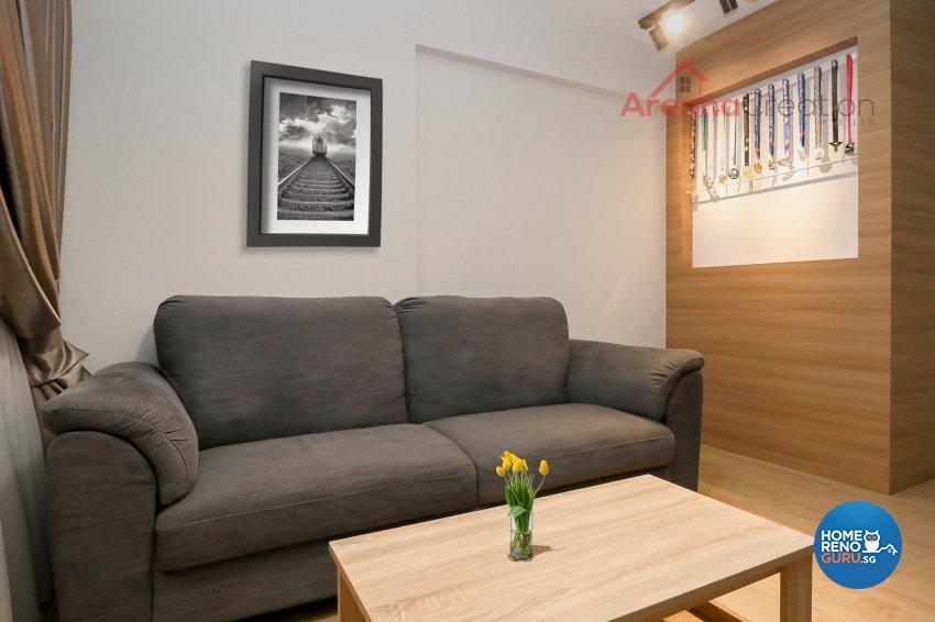 Minimalist, Scandinavian Design - Living Room - Condominium - Design by Areana Creation Pte Ltd