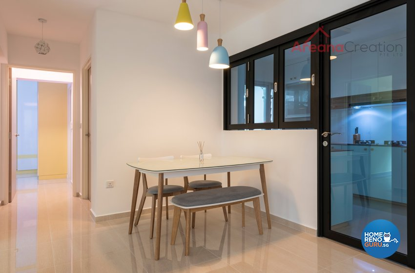 Scandinavian Design - Dining Room - HDB 4 Room - Design by Areana Creation Pte Ltd