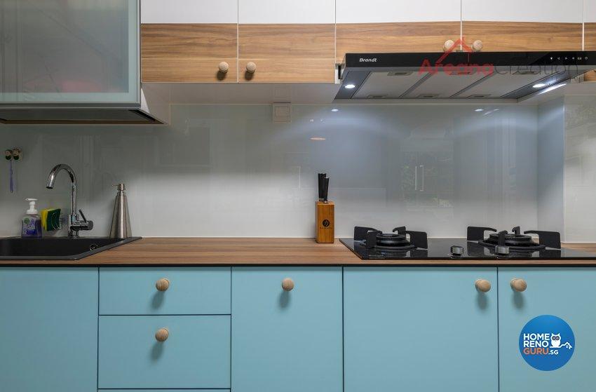 Scandinavian Design - Kitchen - HDB 4 Room - Design by Areana Creation Pte Ltd
