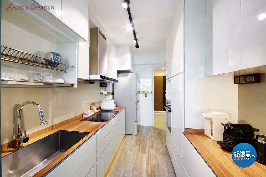 Contemporary, Minimalist, Modern Design - Kitchen - HDB 4 Room - Design by Areana Creation Pte Ltd