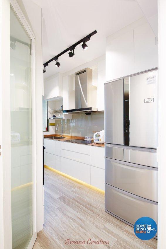 Contemporary, Minimalist, Modern Design - Kitchen - HDB 4 Room - Design by Areana Creation Pte Ltd