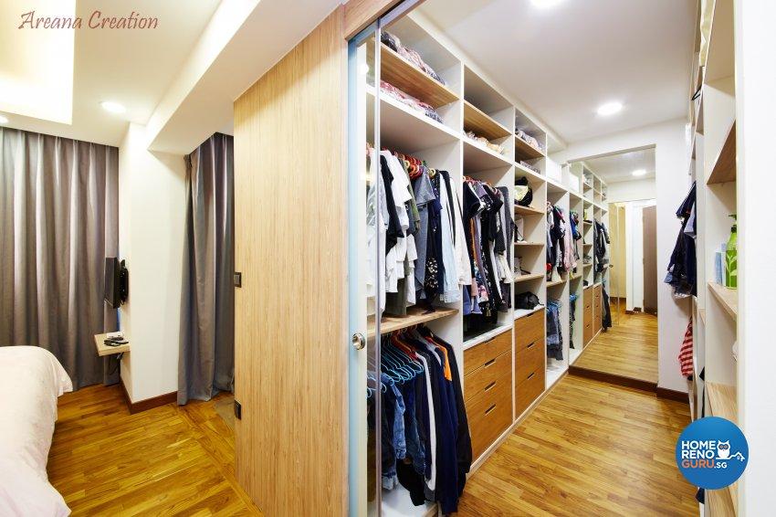 Contemporary, Minimalist, Modern Design - Bedroom - HDB 4 Room - Design by Areana Creation Pte Ltd