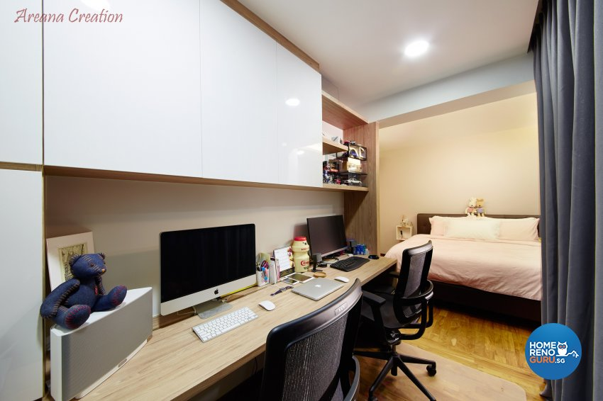 Contemporary, Minimalist, Modern Design - Bedroom - HDB 4 Room - Design by Areana Creation Pte Ltd