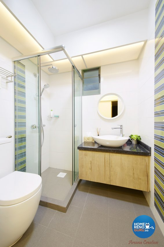 Contemporary, Minimalist, Modern Design - Bathroom - HDB 4 Room - Design by Areana Creation Pte Ltd