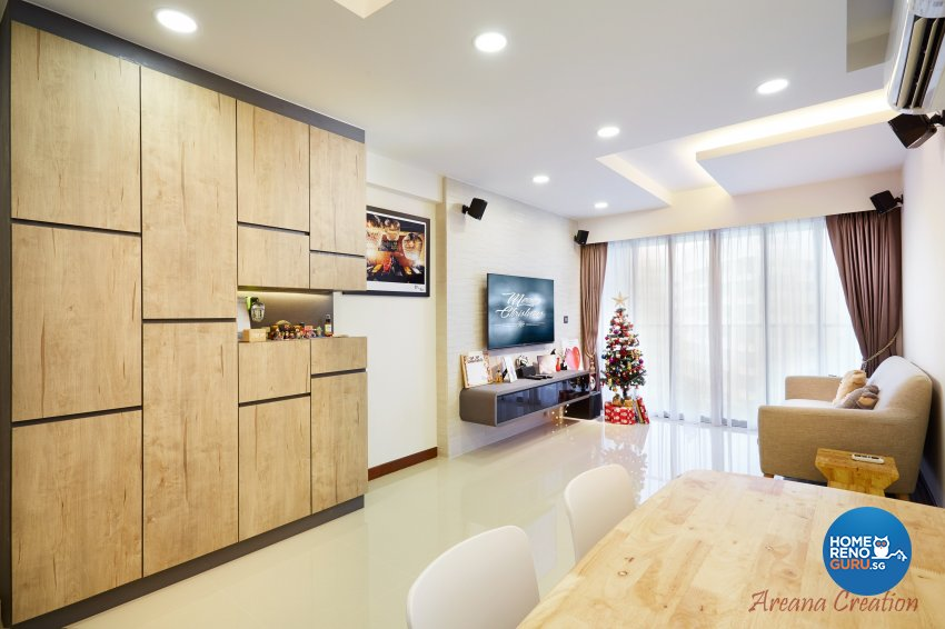 Contemporary, Minimalist, Modern Design - Living Room - HDB 4 Room - Design by Areana Creation Pte Ltd