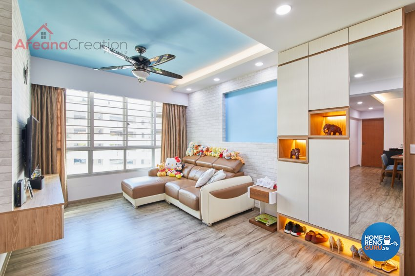 Contemporary, Modern Design - Living Room - HDB 5 Room - Design by Areana Creation Pte Ltd