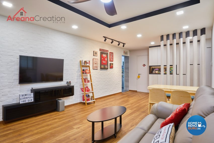 Contemporary, Scandinavian Design - Living Room - HDB 4 Room - Design by Areana Creation Pte Ltd