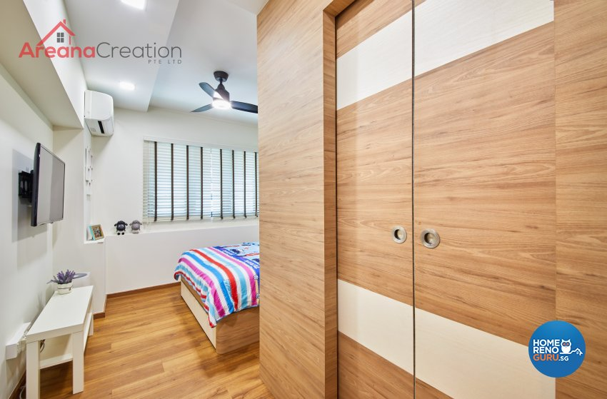 Contemporary, Scandinavian Design - Bedroom - HDB 4 Room - Design by Areana Creation Pte Ltd