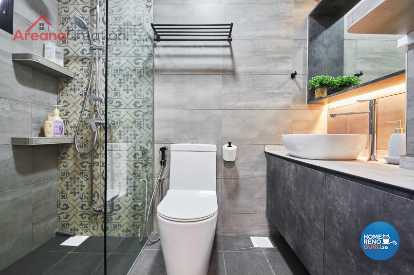 Contemporary, Scandinavian Design - Bathroom - HDB 4 Room - Design by Areana Creation Pte Ltd
