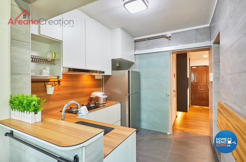 Contemporary, Scandinavian Design - Kitchen - HDB 4 Room - Design by Areana Creation Pte Ltd