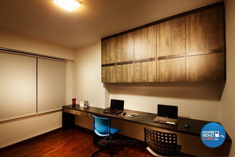 Contemporary, Modern Design - Study Room - HDB 4 Room - Design by Areana Creation Pte Ltd