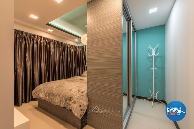 Eclectic, Modern Design - Bedroom - HDB 4 Room - Design by Areana Creation Pte Ltd