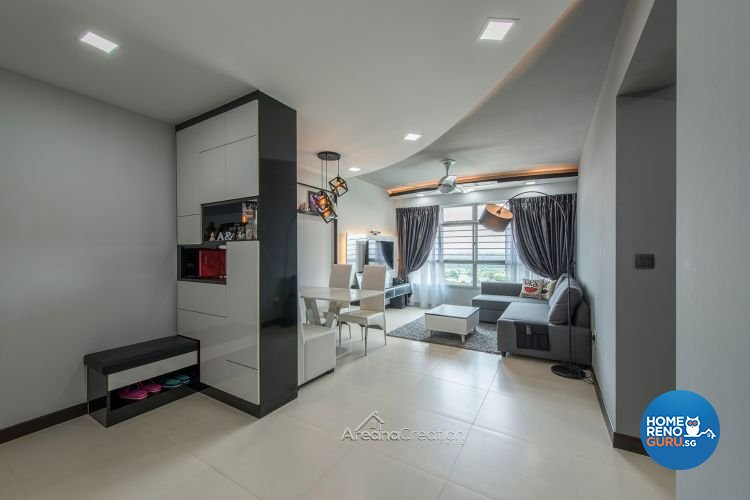 Eclectic, Modern Design - Living Room - HDB 4 Room - Design by Areana Creation Pte Ltd