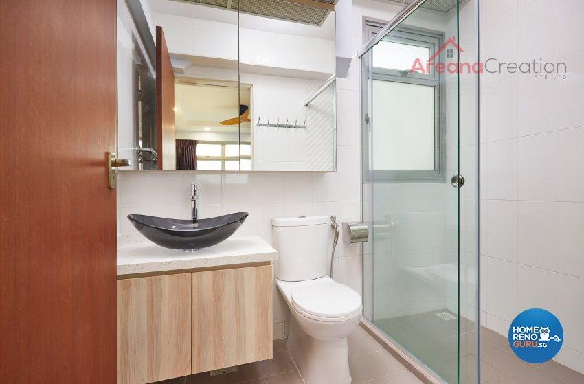 Contemporary Design - Bathroom - HDB 5 Room - Design by Areana Creation Pte Ltd