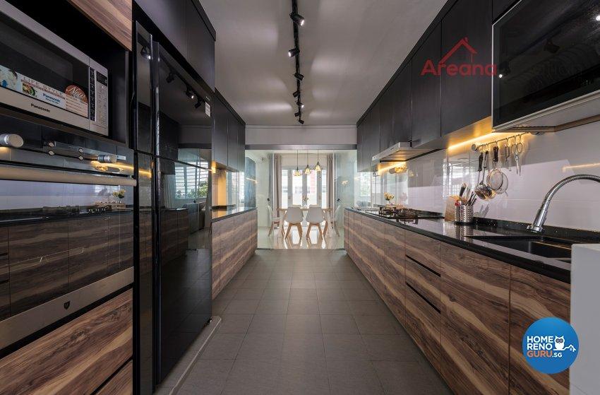 Contemporary Design - Kitchen - HDB 4 Room - Design by Areana Creation Pte Ltd