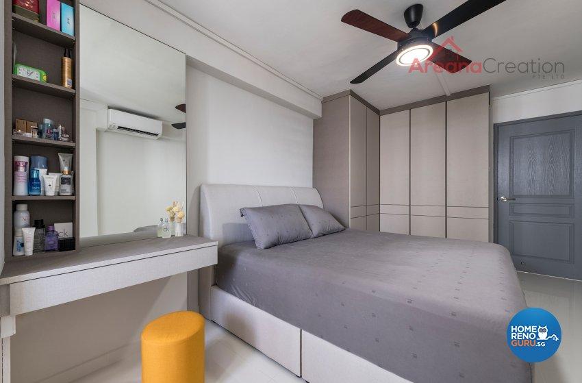 Contemporary Design - Bedroom - HDB 4 Room - Design by Areana Creation Pte Ltd