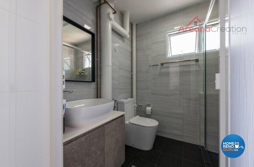 Contemporary Design - Bathroom - HDB 4 Room - Design by Areana Creation Pte Ltd