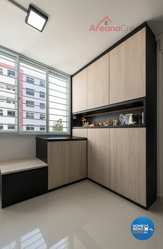 Contemporary Design - Living Room - HDB 4 Room - Design by Areana Creation Pte Ltd