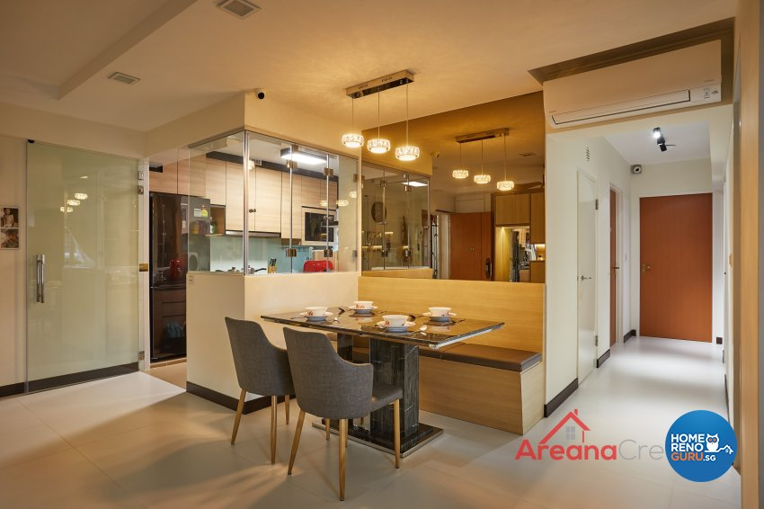Modern Design - Dining Room - HDB 5 Room - Design by Areana Creation Pte Ltd