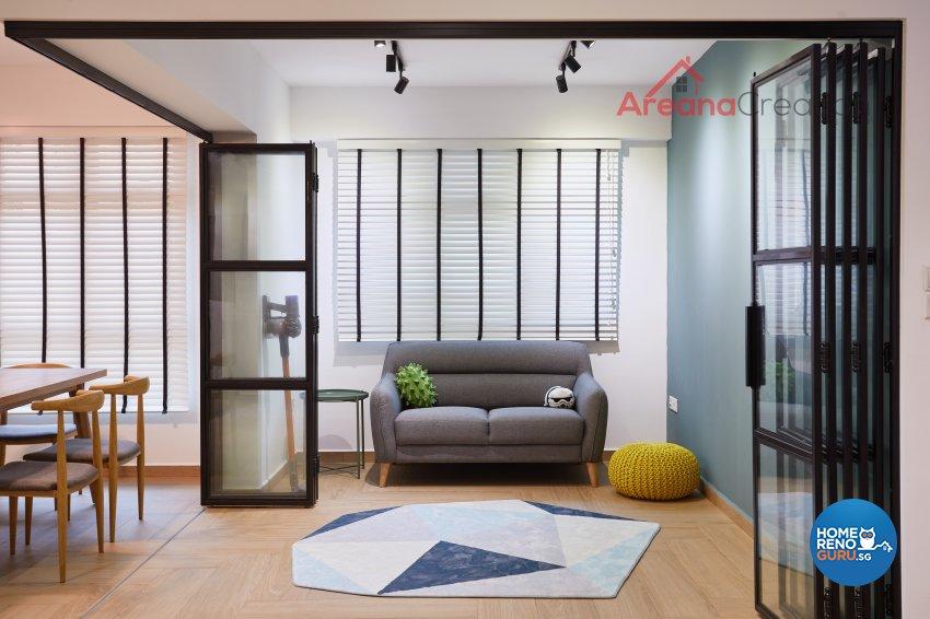 Contemporary Design - Entertainment Room - HDB 5 Room - Design by Areana Creation Pte Ltd
