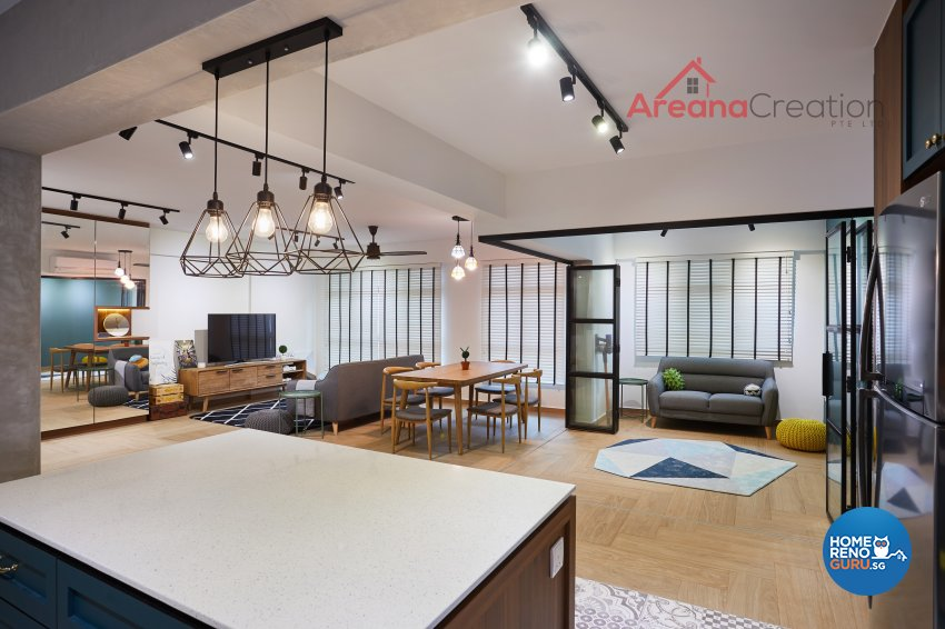 Contemporary Design - Entertainment Room - HDB 5 Room - Design by Areana Creation Pte Ltd