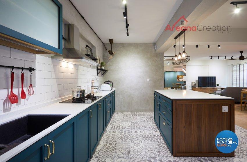 Contemporary Design - Kitchen - HDB 5 Room - Design by Areana Creation Pte Ltd